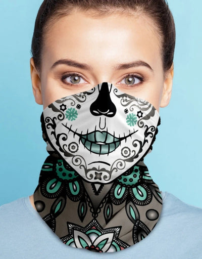 Face Scarf - Femme Fatal Light Grey, Face Mask, Kover - Say It Sister