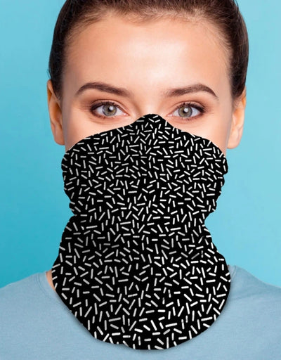 Face Scarf - Serkis Fine Black/White - Say It Sister