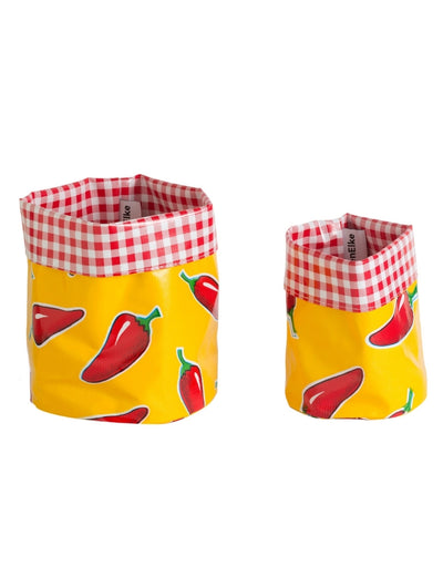 Nesting Pots – Chilli Red/Yellow Set of 2 - Say It Sister