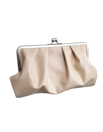 Moy - Tan Pleated Leather Clutch, bag, Moy - Say It Sister