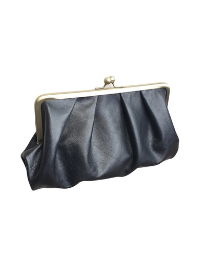 Moy - Black Pleated Leather Clutch, bag, Moy - Say It Sister