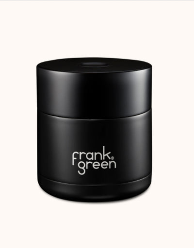 Frank Green - Black Ceramic Reusable Canister 295ml - Say It Sister