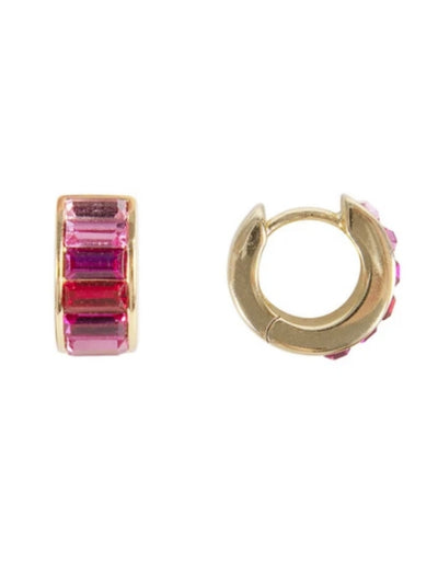 Fairley - Pink Ombre Crystal Huggies - Say It Sister