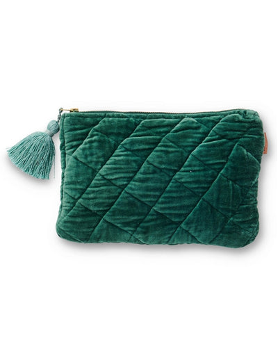 Kip & Co - Velvet Cosmetics Purse Sycamore - Say It Sister