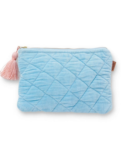 Kip & Co - Velvet Cosmetics Purse Blue - Say It Sister