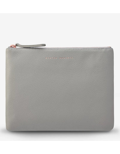 Status Anxiety - Fake It Clutch Light Grey, clutch, Status Anxiety - Say It Sister