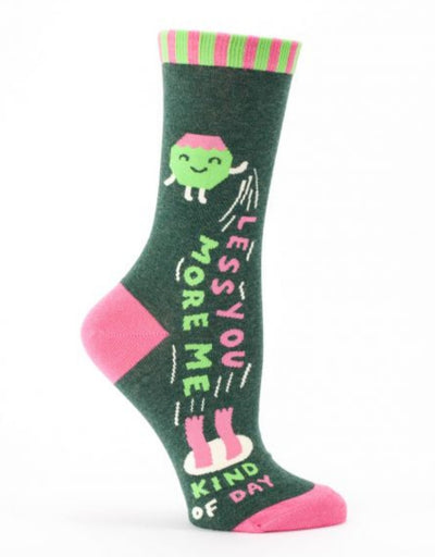 Blue Q - Less You More Me W-Crew Socks - Say It Sister