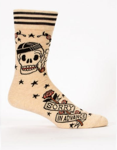Blue Q - Sorry In Advance M-Crew Socks - Say It Sister