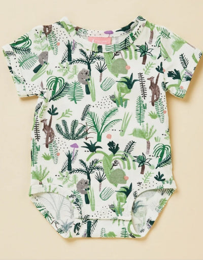 Halcyon Nights- Fern Gully Short Sleeve Suit, baby, Halcyon Nights - Say It Sister