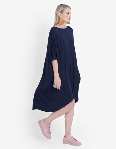Elk - Wide Stretch Dress Navy - Say It Sister