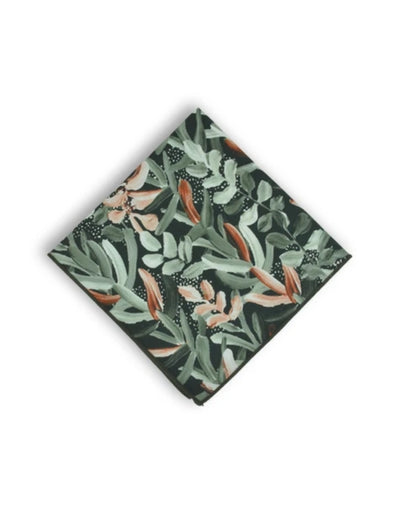 Peggy and Finn - Protea Green Pocket Square - Say It Sister