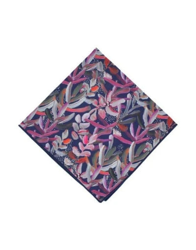 Peggy and Finn - Protea Navy Pocket Square - Say It Sister