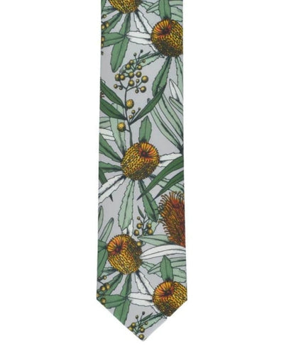 Peggy and Finn - Banksia Grey Cotton Tie - Say It Sister