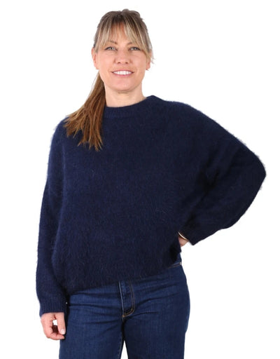 Olga de Polga - Montreal Angora Sweater Navy Blue, Outerwear, Olga de Polga - Say It Sister