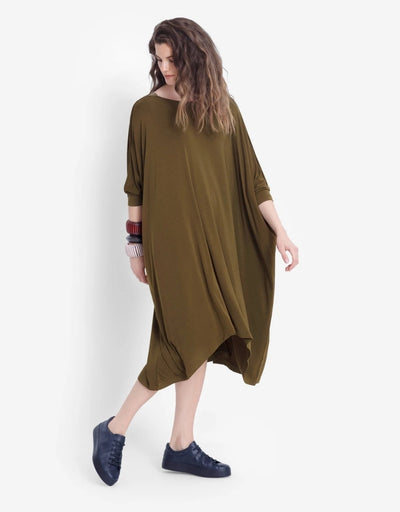 Elk - Wide Stretch Dress Green - Say It Sister