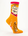 Blue Q - Women's Socks 'Love You Weirdo'', socks, Blue Q - Say It Sister
