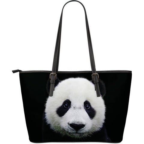 Panda Lovers Large Leather Tote