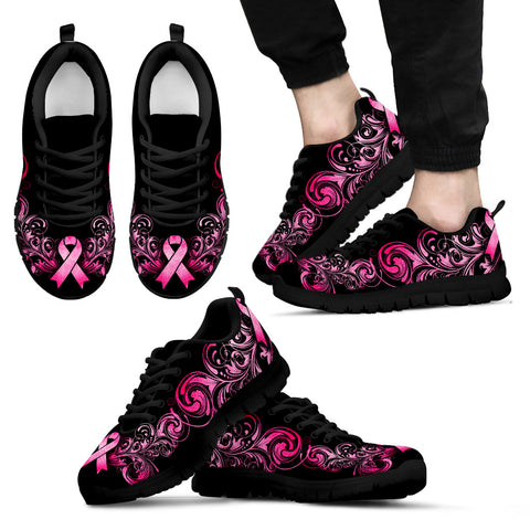 Mens Breast Cancer Awareness Shoes (Black)