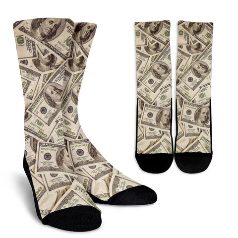 Love of Money Crew Socks Custom Printed