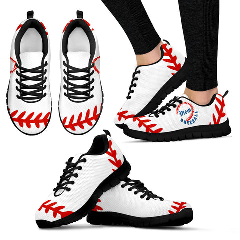Baseball Mom Black Sneakers