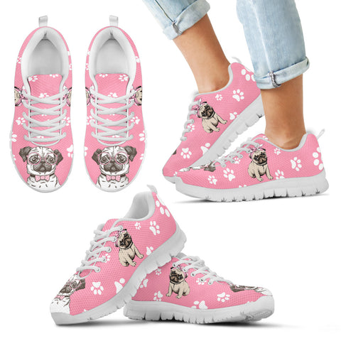 Pug Dog Kid's Sneakers