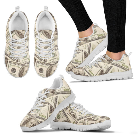 Love of Money Shoes Womens Custom Printed Sneakers