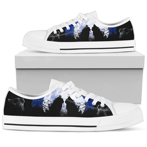 Cats and Moon Women's Low Top Shoe