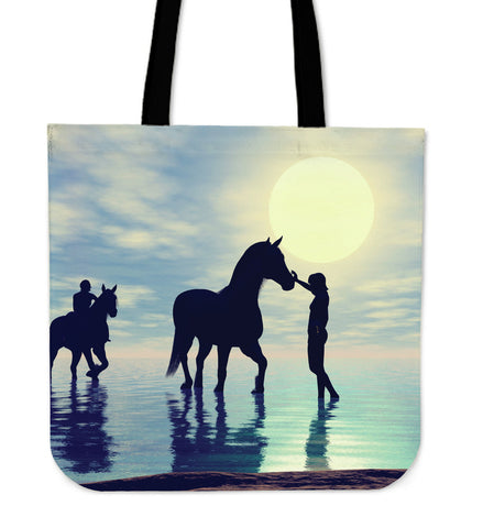 Water Horse Cloth Tote Bag