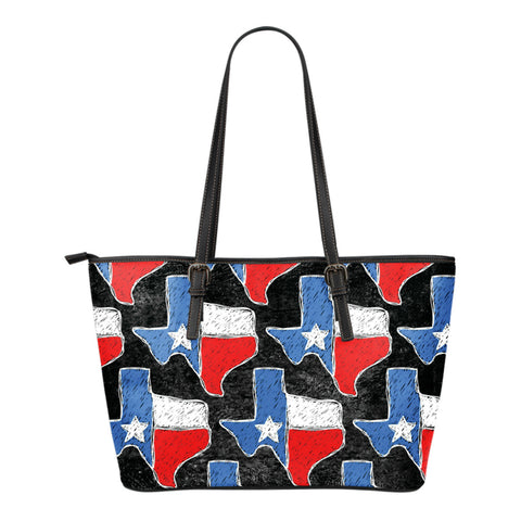 Texas Small Leather Tote Bag