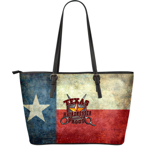 Texas Proud Hairdresser Leather Tote