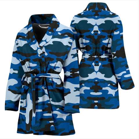 Blue Camouflage Womens Bath Robe