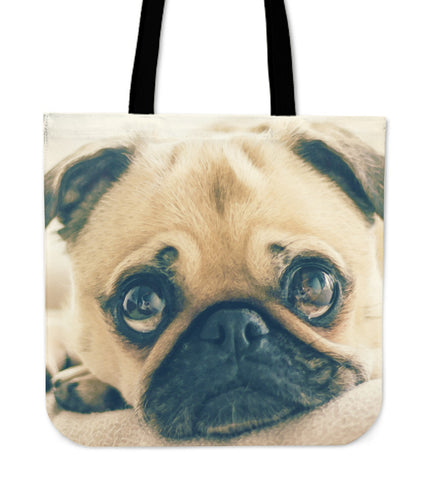 Tote Bag Pug Puppy