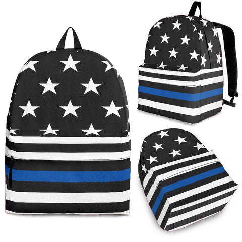 Thin Blue Line Police Backpack