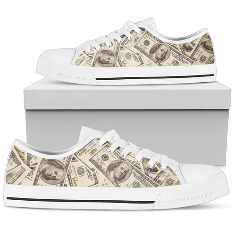 Love of Money Shoes Womens Low Top Canvas Shoes