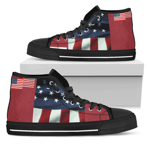 Usa Kicks Red Men's High Top