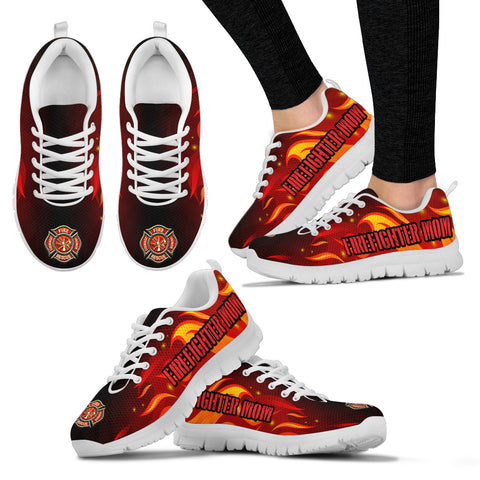 Firefighter Mom Shoes Custom Printed Sneakers