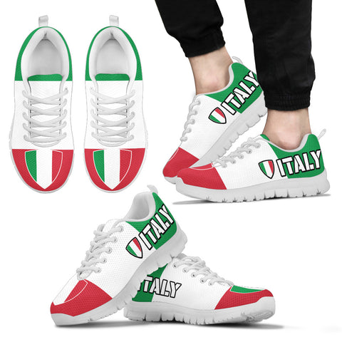 Italian Flag Pride Shoes Mens Custom Printed Sneakers