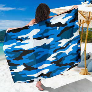 Blue Camouflage Scarf Sarong
