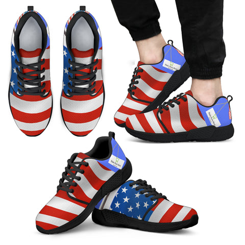 Flag Men's Athletic Sneakers