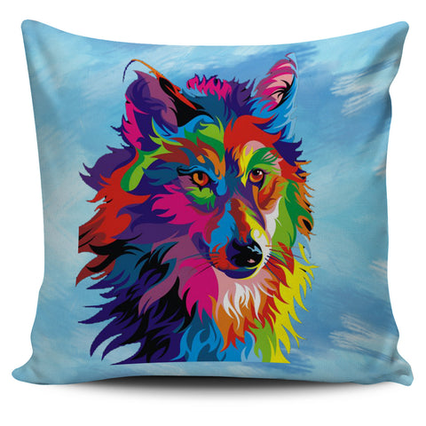 Painted Wolf Cushion Cover