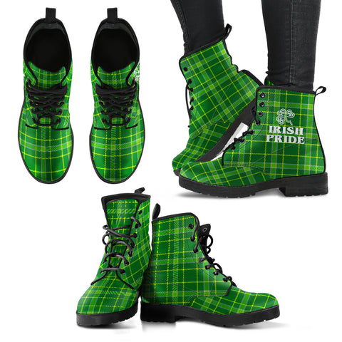 Irish Tartan Women`s Leather Boots