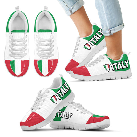 Italy Italian Flag Pride Shoes Custom Printed Sneakers  for Kids