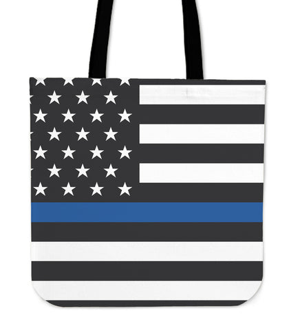 Thin Blue Line Police Tote Bag