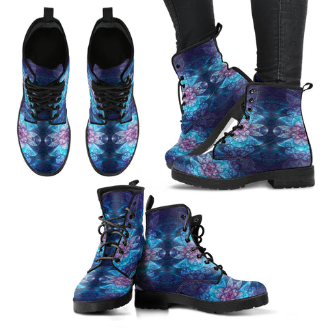 Fractal Flower Women's Leather Boots