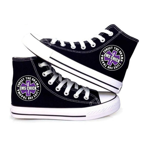 EMS Chick High Top Canvas Shoes Custom Printed Sneakers