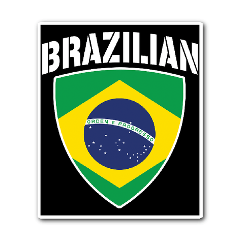 Brazilian Pride Vinyl Sticker (Free Shipping)