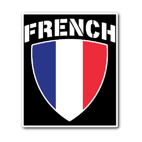 French Pride Vinyl Sticker (Free Shipping)