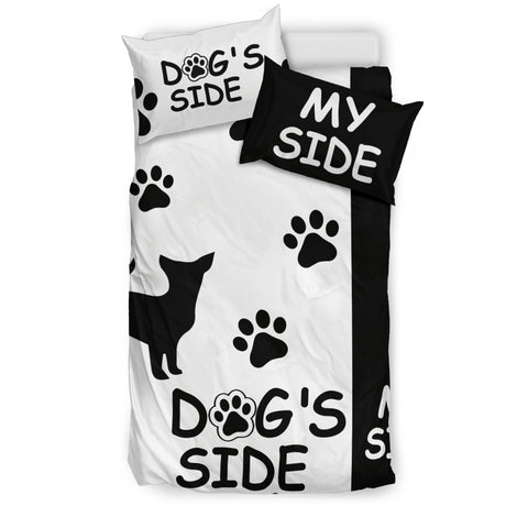 Chihuahua Dog's Side My Side Bedding Set
