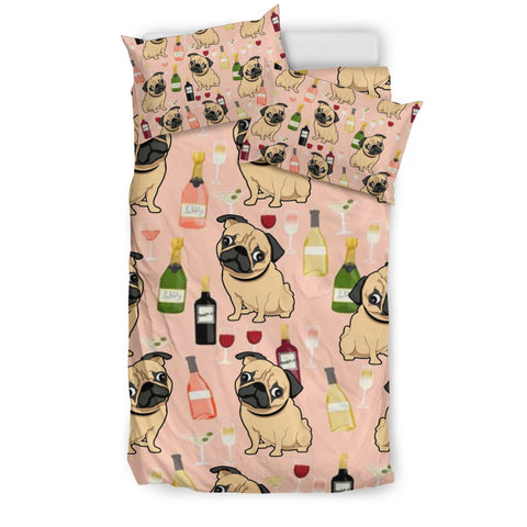 Pug Drink Bedding Set