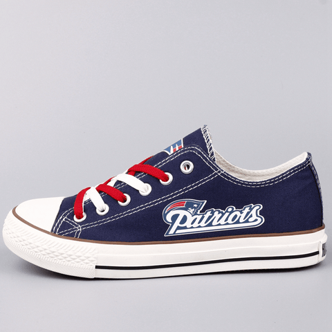 Custom Printed Low Top Canvas Shoes - New England Patriots $38 - Clearance